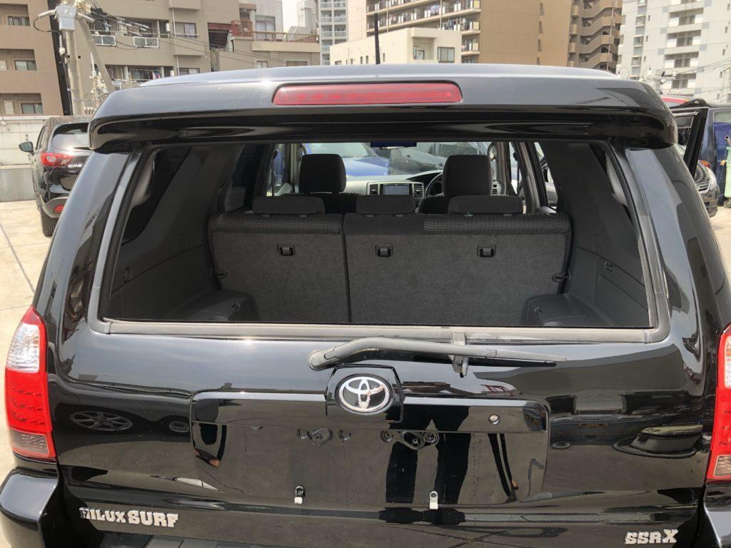 ハイラックスサーフSSR-X リミテッド TRN215W 4WD リヤガラスが電動で開閉できます。