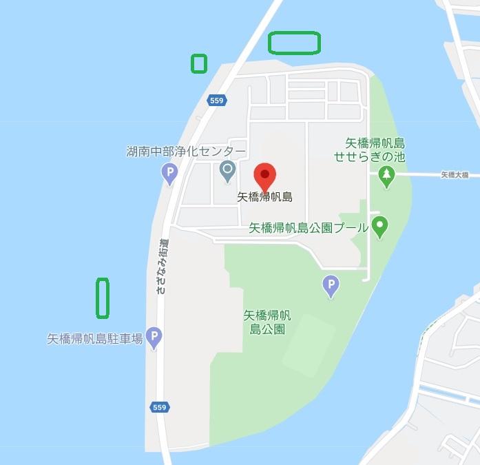 琵琶湖 矢橋帰帆島周辺 小BASSポイント