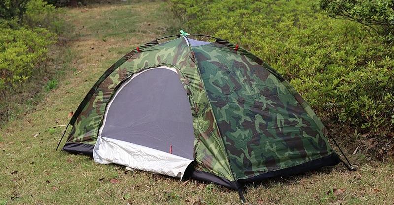 Sutekus テント コンパクト 迷彩柄 キャンプテント ソロテント 小型テント
