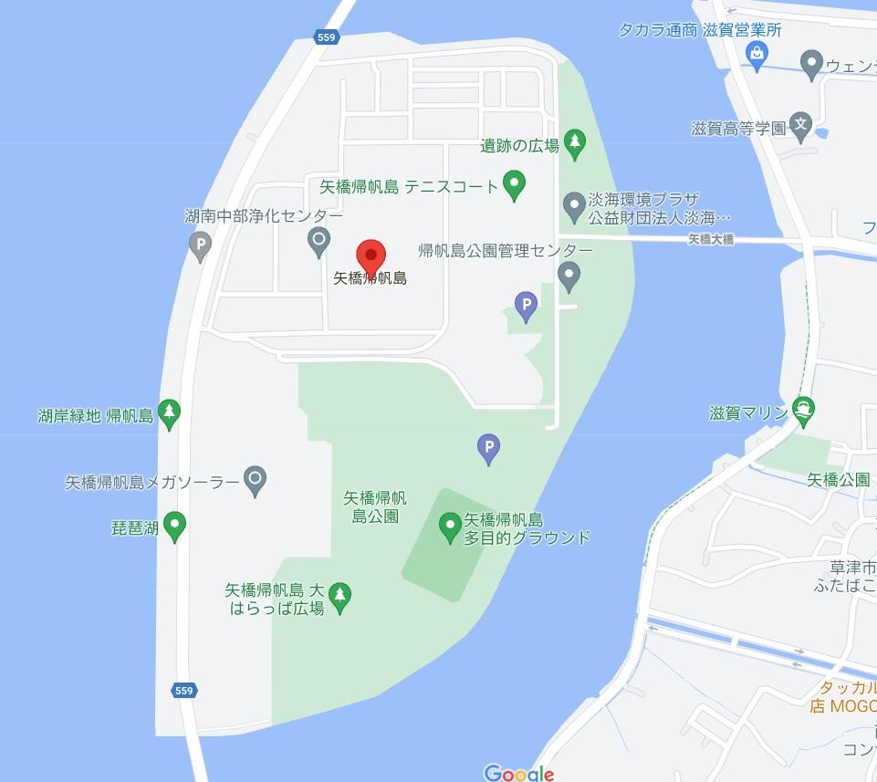 矢橋帰帆島周辺の回遊BASS